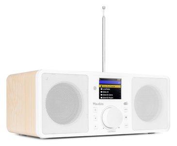 ROME WIFI internet, Bluetooth en DAB+ stereo radio kleur wit, ook in zwart verkrijgbaar art.nr 6102228