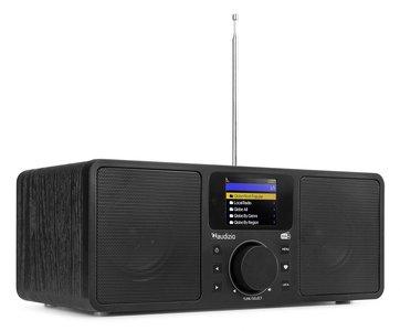 ROME WIFI internet, Bluetooth en DAB+ stereo radio kleur zwart, ook in wit verkrijgbaar art.nr 6102226