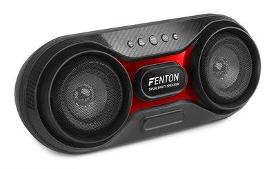 "FENTON SBS80 2x3"" party speaker met ingebouwde Bluetooth ontvanger, oplaadbare Lithium-ion accu."