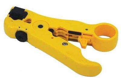 Striptang HT-352 voor UTP/FTP/RG58/RG59/RG6/RG7/RG11 kabel en modulaire telefoonkabel