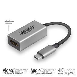 Eminent USB Type-C naar HDMI 4K @ 60Hz converter