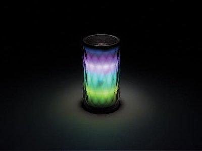 Stereo speaker met led lichteffect.