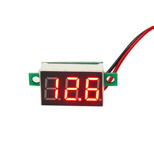 REKIT R8902 digitale mini led display voltmeter, rode leds