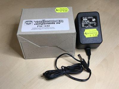 Netadapter uitgang 9.5V DC  ( 9V )   550mA,  ingang 230VAC